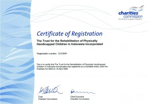 Charities Commission Certificate