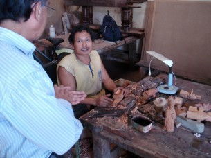 Carving workshop at PRY Yogya