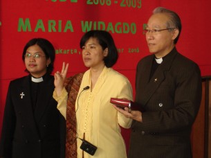 Past Director; Dr Maria (Director of PRY) – swearing in ceremony, 2008